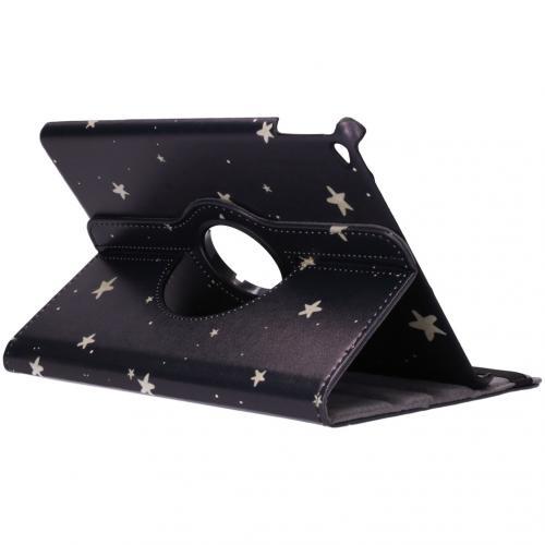 360° Draaibare Design Bookcase voor iPad Air 2 - Gouden Sterren
