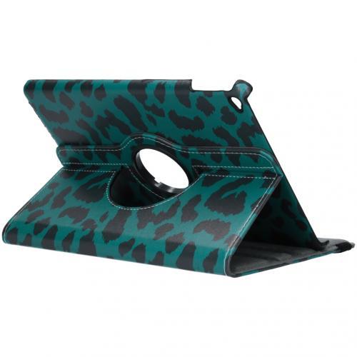 360° Draaibare Design Bookcase voor iPad Air 2 - Groen Panter