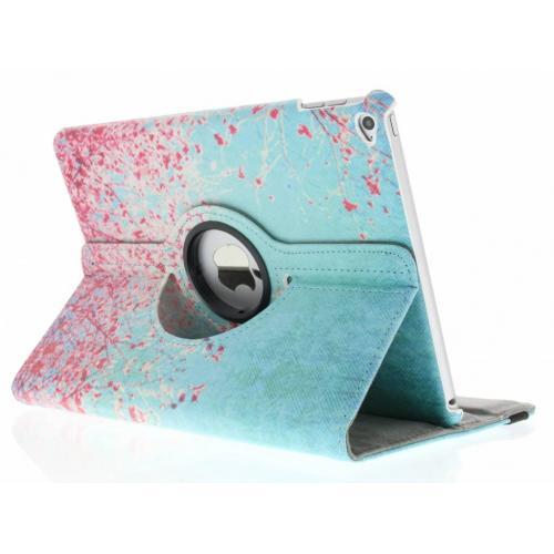 360° Draaibare Design Bookcase voor iPad Air 2 - Roze Bloesem