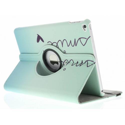 360° Draaibare Design Bookcase voor iPad Air 2 - Smile
