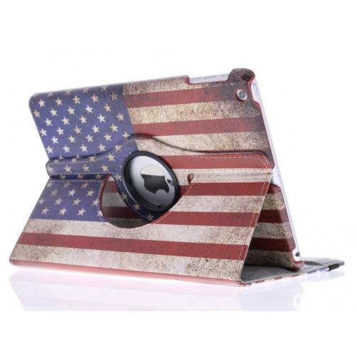 360° Draaibare Design Bookcase voor iPad Air - Amerikaanse Vlag