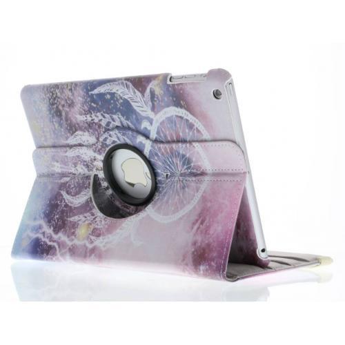 360° Draaibare Design Bookcase voor iPad Air - Dromenvanger Paars