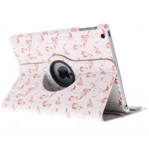 360° Draaibare Design Bookcase voor iPad Air - Flamingo