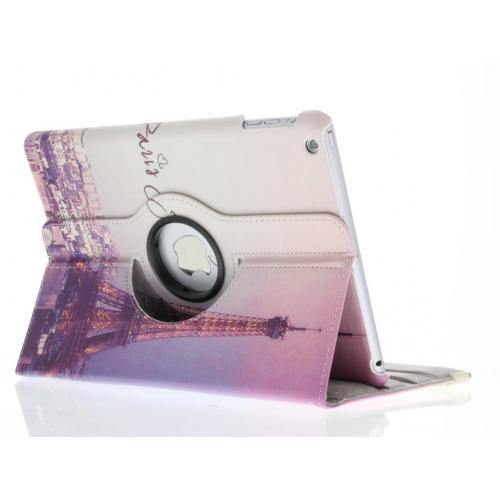 360° Draaibare Design Bookcase voor iPad Air - Parijs Je T'aime
