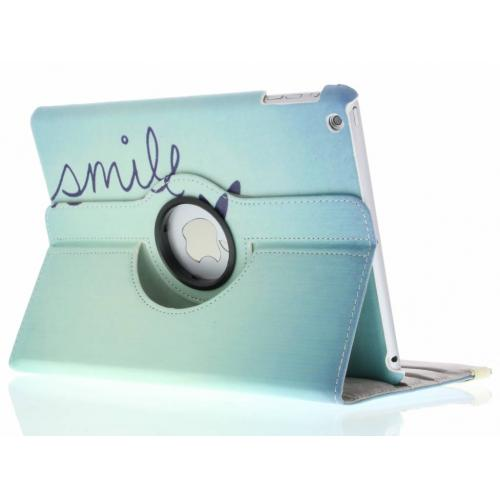 360° Draaibare Design Bookcase voor iPad Air - Smile