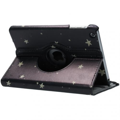 360° Draaibare Design Bookcase voor iPad Mini / 2 / 3 - Gouden Sterren