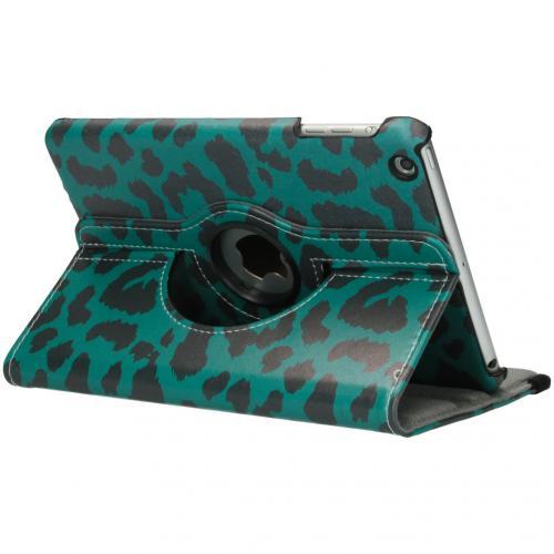 360° Draaibare Design Bookcase voor iPad Mini / 2 / 3 - Groen Panter