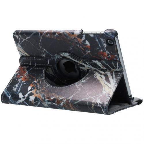 360° Draaibare Design Bookcase voor iPad Mini / 2 / 3 - Zwart Marmer