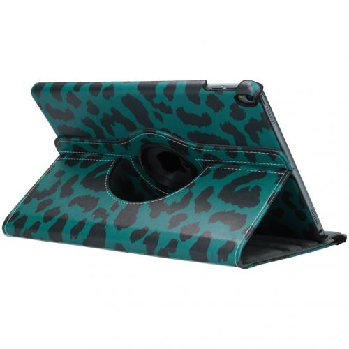360° Draaibare Design Bookcase voor iPad Pro 10.5 / Air 10.5 - Groen Panter