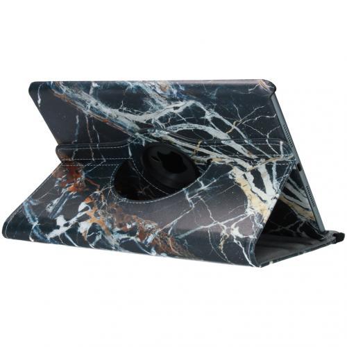 360° Draaibare Design Bookcase voor iPad Pro 10.5 / Air 10.5 - Zwart Marmer