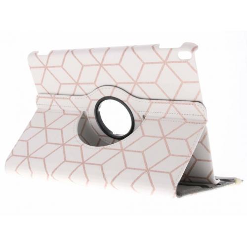 360° Draaibare Design Bookcase voor iPad Pro 10.5 - Cubes Rose Gold