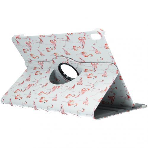 360° Draaibare Design Bookcase voor iPad Pro 12.9 (2018) - Flamingo
