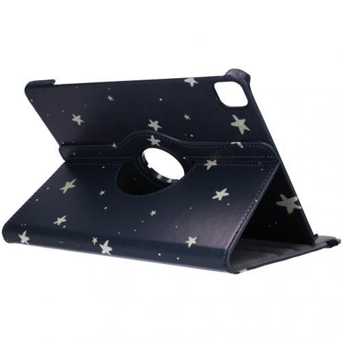 360° Draaibare Design Bookcase voor iPad Pro 12.9 (2020) - Gouden Sterren