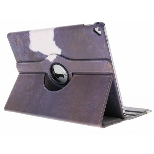 360° Draaibare Design Bookcase voor iPad Pro 12.9 - Koe