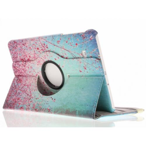 360° Draaibare Design Bookcase voor Samsung Galaxy Tab E 9.6 - Roze Bloesem