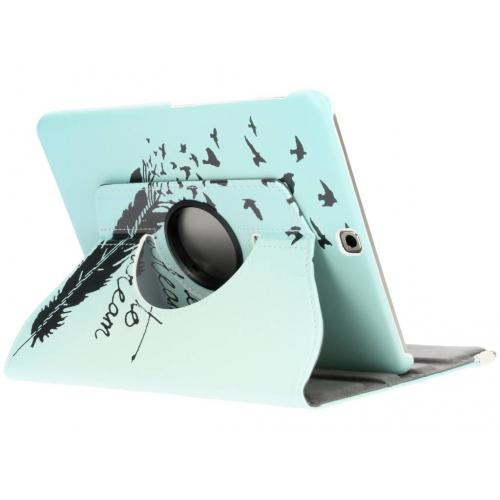 360° Draaibare Design Bookcase voor Samsung Galaxy Tab S2 9.7 - Dare to Dream
