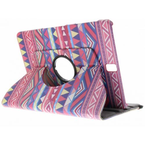 360° Draaibare Design Bookcase voor Samsung Galaxy Tab S3 9.7 - Aztec Rood