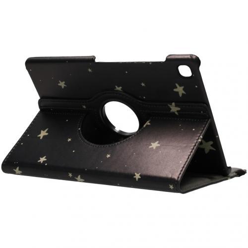 360° Draaibare Design Bookcase voor Samsung Galaxy Tab S5e - Gouden Sterren