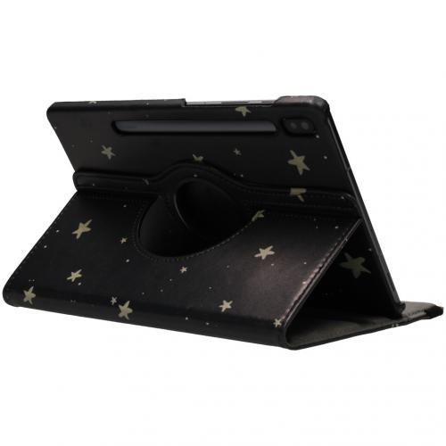 360° Draaibare Design Bookcase voor Samsung Galaxy Tab S6 - Gouden Sterren
