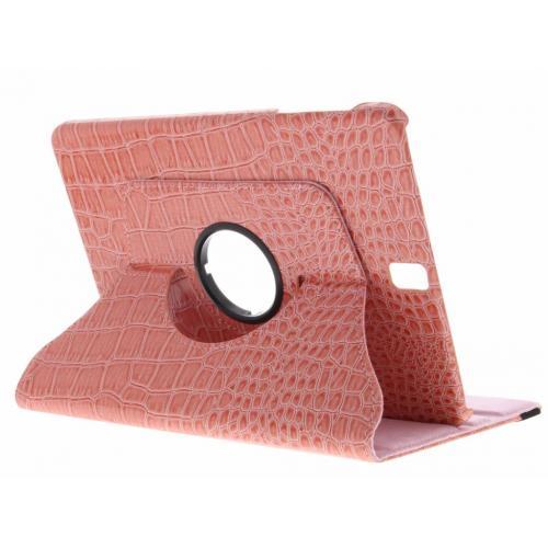 360° Draaibare krokodil Bookcase voor Samsung Galaxy Tab S3 9.7 - Roze