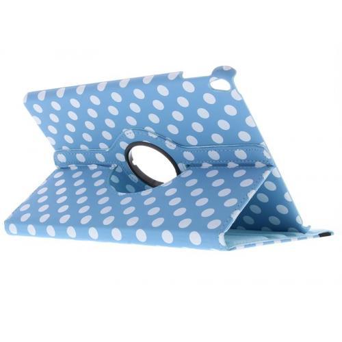 360° Draaibare Polka Dot Bookcase voor iPad Pro 10.5 - Lichtblauw