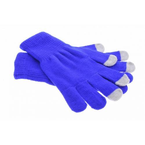 Blauwe effen touchscreen handschoenen