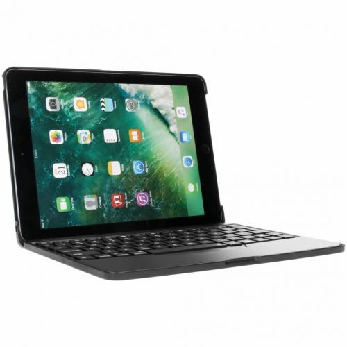 Bluetooth Keyboard Bookcase voor iPad (2018) / (2017) / Air (2) / Pro 9.7 - Zwart