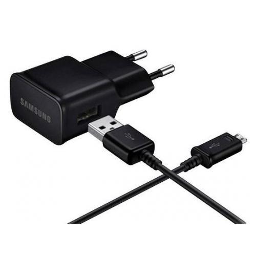 Charging Adapter 2A + Micro-USB naar USB-Kabel - Zwart
