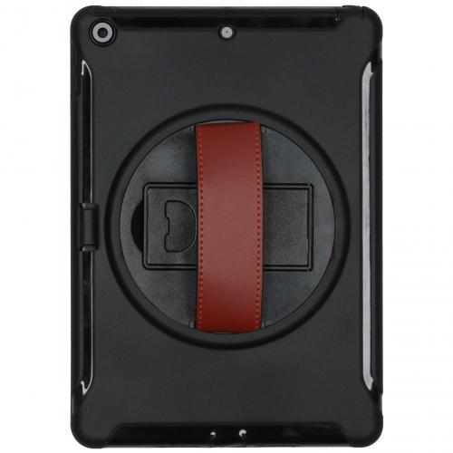 Defender Backcover met strap voor de iPad 10.2 (2019) - Zwart