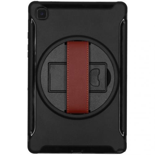 Defender Backcover met strap voor de Samsung Galaxy Tab A7 - Zwart