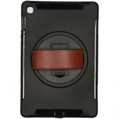 Defender Backcover met strap voor de Samsung Galaxy Tab S5e - Zwart