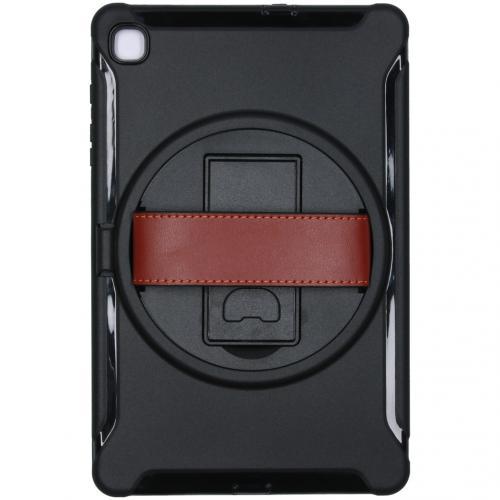Defender Backcover met strap voor de Samsung Galaxy Tab S6 Lite - Zwart