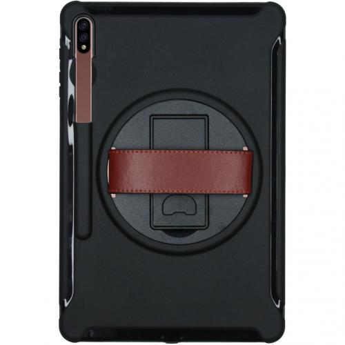 Defender Backcover met strap voor de Samsung Galaxy Tab S7 Plus - Zwart