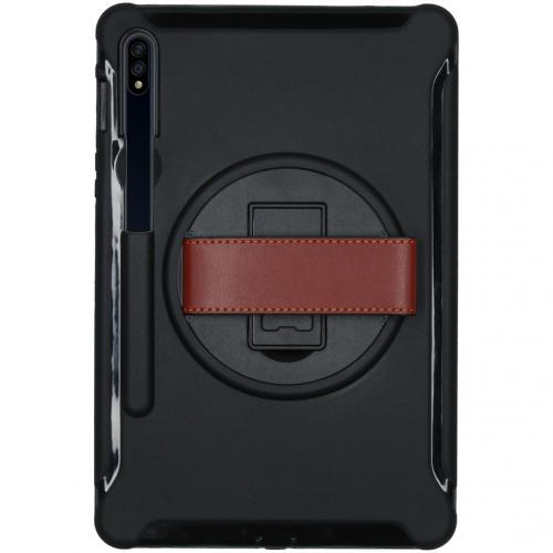 Defender Backcover met strap voor de Samsung Galaxy Tab S7 - Zwart