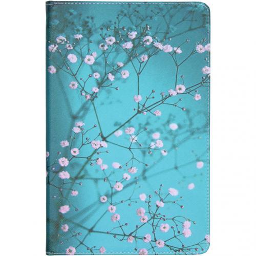 Design Bookcase voor de Samsung Galaxy Tab S6 Lite - Bloesem