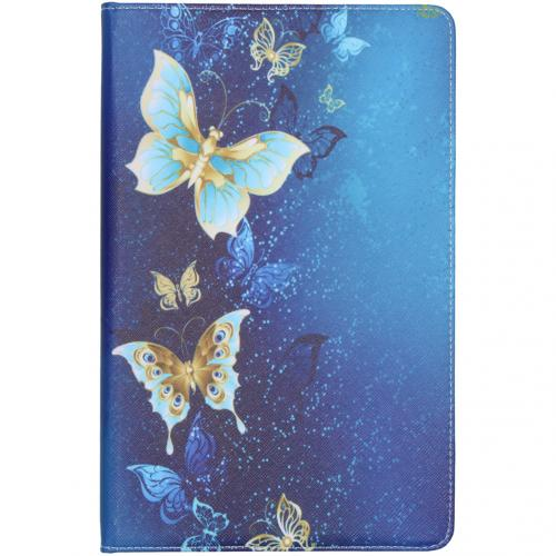 Design Bookcase voor de Samsung Galaxy Tab S6 Lite - Vlinders