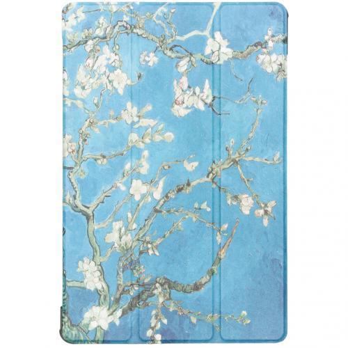 Design Hardcase Bookcase voor de Samsung Galaxy Tab S5e - Groene Plant