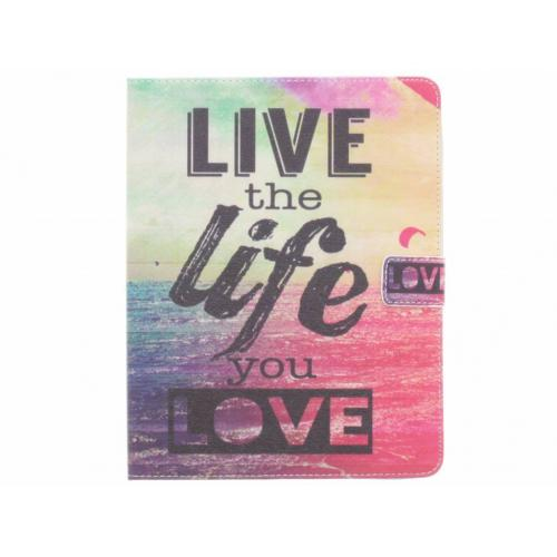 Design Softcase Bookcase voor iPad 2 / 3 / 4 - Live the Life