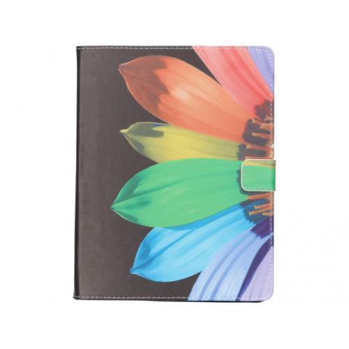 Design Softcase Bookcase voor iPad 2 / 3 / 4 - Zonnebloem Zwart