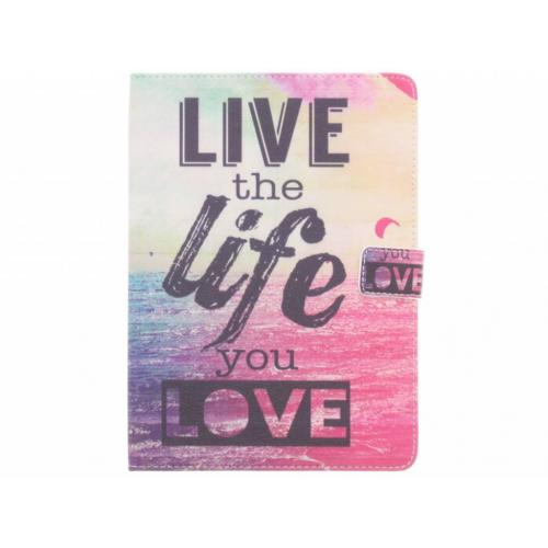 Design Softcase Bookcase voor iPad Air - Live the Life