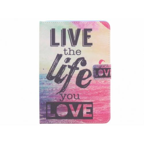 Design Softcase Bookcase voor iPad Mini / 2 / 3 - Live the Life