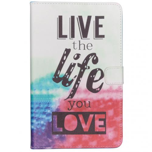 Design Softcase Bookcase voor Samsung Galaxy Tab A 10.1 (2019) - Live the Life