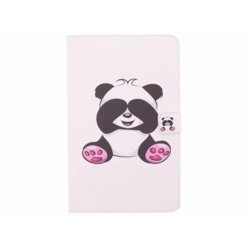 Design Softcase Bookcase voor Samsung Galaxy Tab E 9.6 - Panda