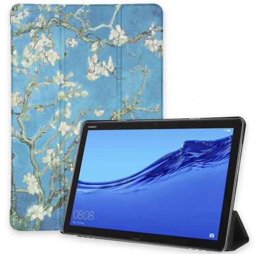 Design Trifold Bookcase voor de Huawei MediaPad M5 Lite 10.1 inch -Green Plant Design