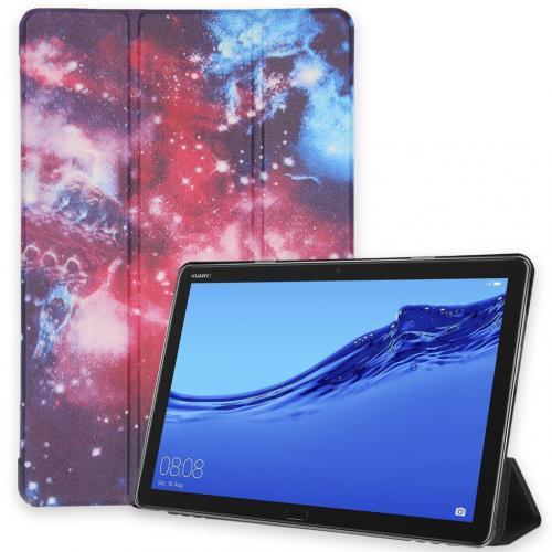 Design Trifold Bookcase voor de Huawei MediaPad M5 Lite 10.1 inch - Space Design