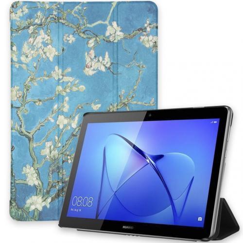 Design Trifold Bookcase voor de Huawei MediaPad T3 10 inch - Green Plant Design