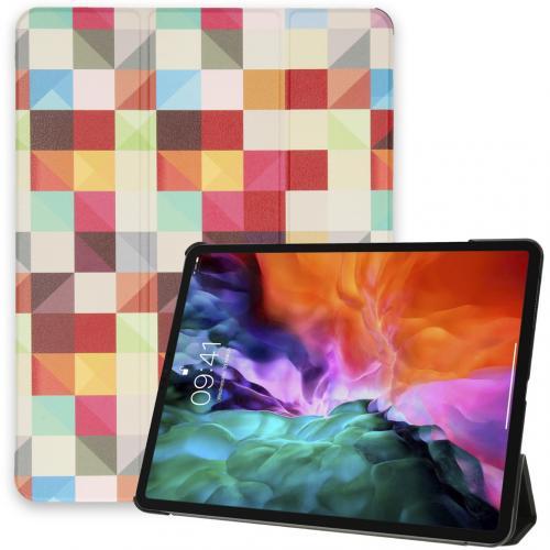 Design Trifold Bookcase voor de iPad Pro 12.9 (2020-2018) - Kleurtjes