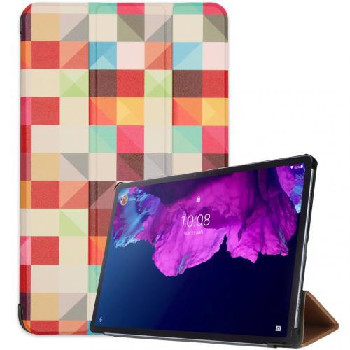 Design Trifold Bookcase voor de Lenovo Tab P11 - Kleurtjes