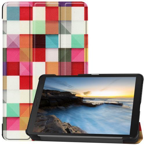 Design Trifold Bookcase voor de Samsung Galaxy Tab A 8.0 (2019) - Kleurtjes