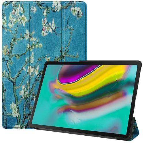 Design Trifold Bookcase voor de Samsung Galaxy Tab S5e - Green Plant Design